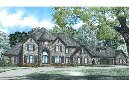4 Bed, 3 Bath, 5089 Square Foot House Plan - #110-01003