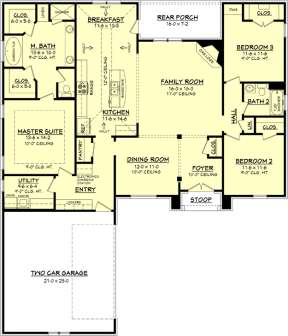 Main Floor for House Plan #041-00081