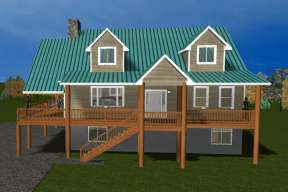 Cottage House Plan #2802-00028 Elevation Photo