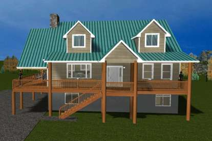 4 Bed, 2 Bath, 2106 Square Foot House Plan - #2802-00028