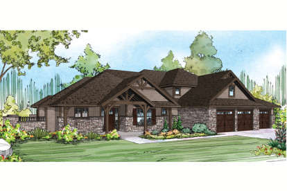 3 Bed, 5 Bath, 4343 Square Foot House Plan - #035-00632