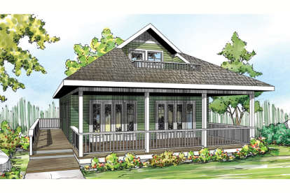2 Bed, 2 Bath, 1120 Square Foot House Plan #035-00633