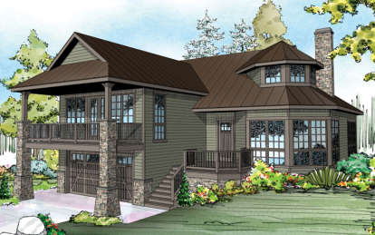 1 Bed, 2 Bath, 1976 Square Foot House Plan - #035-00638