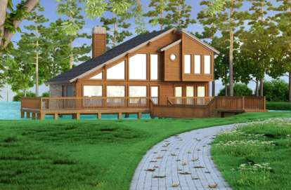 3 Bed, 2 Bath, 1526 Square Foot House Plan - #5445-00001