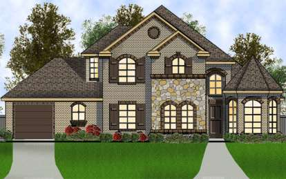 3 Bed, 2 Bath, 2566 Square Foot House Plan - #5445-00025