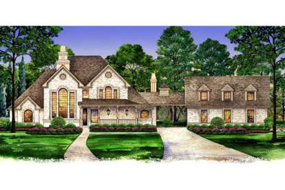 3 Bed, 4 Bath, 2699 Square Foot House Plan - #5445-00030