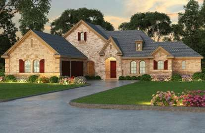 3 Bed, 3 Bath, 2703 Square Foot House Plan - #5445-00031