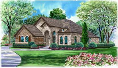 4 Bed, 3 Bath, 2929 Square Foot House Plan #5445-00043
