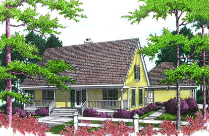 3 Bed, 2 Bath, 1485 Square Foot House Plan - #048-00061