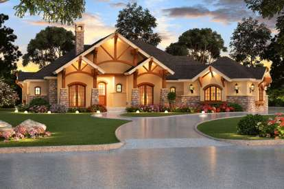 4 Bed, 4 Bath, 3584 Square Foot House Plan - #5445-00067