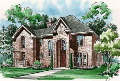 3 Bed, 4 Bath, 3296 Square Foot House Plan - #5445-00078