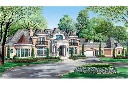 7 Bed, 7 Bath, 15079 Square Foot House Plan #5445-00080