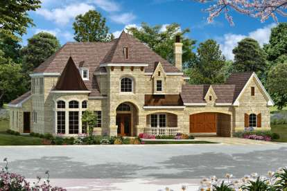 5 Bed, 5 Bath, 6065 Square Foot House Plan - #5445-00083
