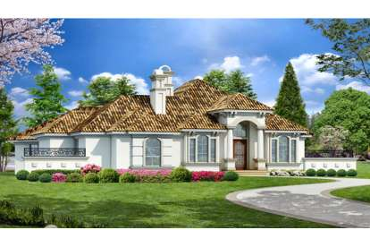 3 Bed, 3 Bath, 4128 Square Foot House Plan - #5445-00084