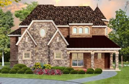 4 Bed, 3 Bath, 4936 Square Foot House Plan - #5445-00087