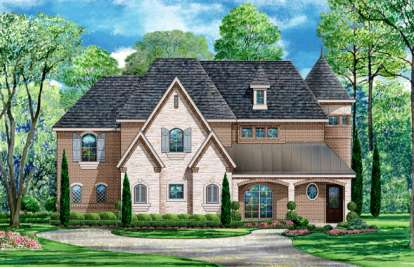 4 Bed, 3 Bath, 4936 Square Foot House Plan - #5445-00089