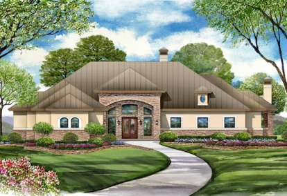 4 Bed, 5 Bath, 5497 Square Foot House Plan - #5445-00093