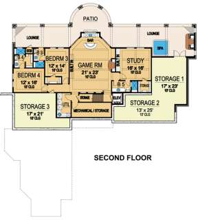 Floorplan 2 for House Plan #5445-00093