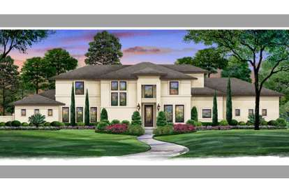 5 Bed, 5 Bath, 6056 Square Foot House Plan - #5445-00094