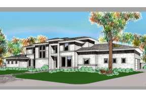 Contemporary House Plan #5445-00094 Elevation Photo