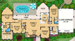 Floorplan 1 for House Plan #5445-00094