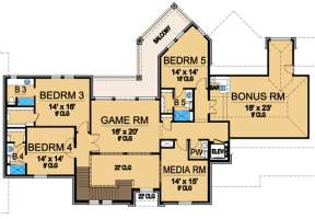 Floorplan 2 for House Plan #5445-00094