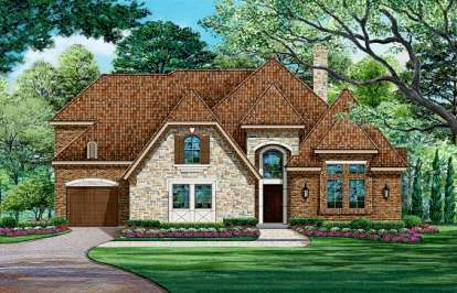 4 Bed, 3 Bath, 4268 Square Foot House Plan - #5445-00097