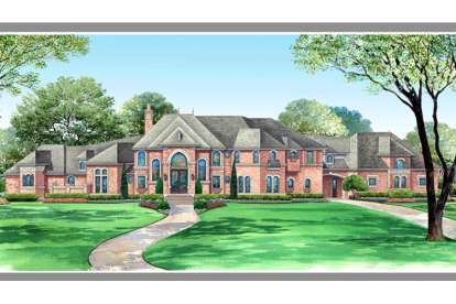5 Bed, 5 Bath, 7517 Square Foot House Plan - #5445-00101
