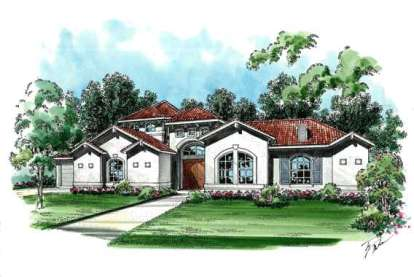 4 Bed, 3 Bath, 3523 Square Foot House Plan - #5445-00103