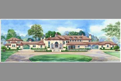 5 Bed, 7 Bath, 12291 Square Foot House Plan #5445-00104