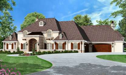 4 Bed, 5 Bath, 7535 Square Foot House Plan - #5445-00106