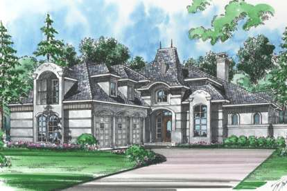 5 Bed, 4 Bath, 4365 Square Foot House Plan - #5445-00112