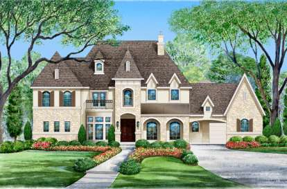 6 Bed, 6 Bath, 6974 Square Foot House Plan - #5445-00113