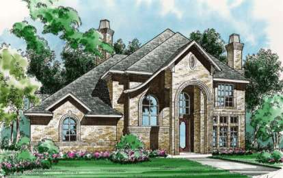 5 Bed, 4 Bath, 3839 Square Foot House Plan - #5445-00114