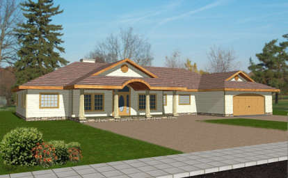 3 Bed, 2 Bath, 2646 Square Foot House Plan - #039-00312