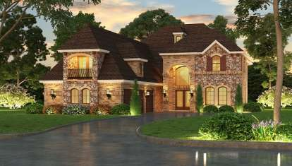 3 Bed, 4 Bath, 5084 Square Foot House Plan - #5445-00122