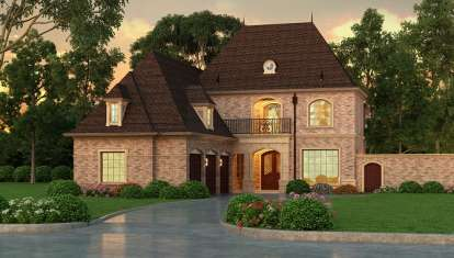 3 Bed, 3 Bath, 5067 Square Foot House Plan - #5445-00123