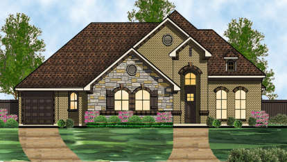 3 Bed, 3 Bath, 2641 Square Foot House Plan - #5445-00125