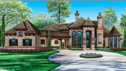 5 Bed, 5 Bath, 6550 Square Foot House Plan #5445-00127