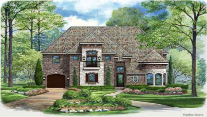 5 Bed, 5 Bath, 5193 Square Foot House Plan - #5445-00130
