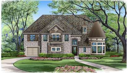 5 Bed, 5 Bath, 5193 Square Foot House Plan - #5445-00131