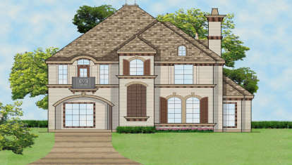3 Bed, 3 Bath, 4022 Square Foot House Plan - #5445-00133