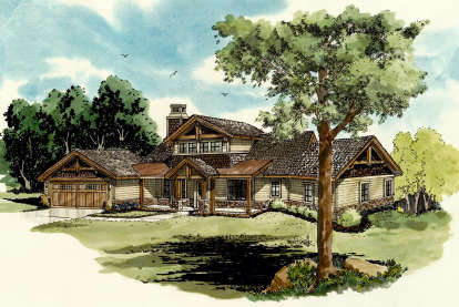 3 Bed, 2 Bath, 1960 Square Foot House Plan - #1907-00002