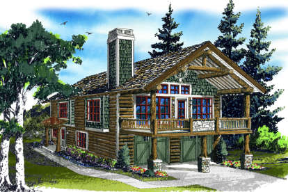 1 Bed, 1 Bath, 1160 Square Foot House Plan - #1907-00003