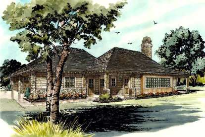 1 Bed, 1 Bath, 727 Square Foot House Plan - #1907-00009