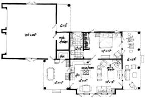 Floorplan 1 for House Plan #1907-00009