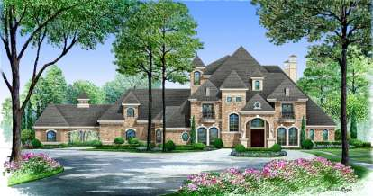 5 Bed, 6 Bath, 6291 Square Foot House Plan - #5445-00136
