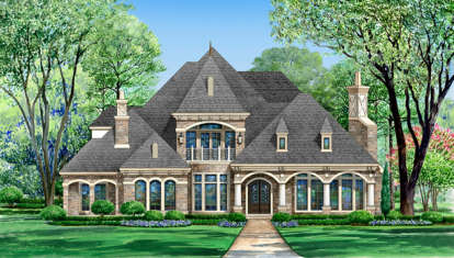 4 Bed, 4 Bath, 5900 Square Foot House Plan - #5445-00139