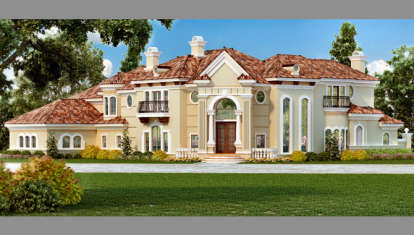 4 Bed, 5 Bath, 7199 Square Foot House Plan - #5445-00146