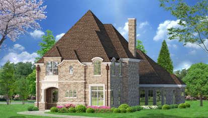 3 Bed, 3 Bath, 3938 Square Foot House Plan - #5445-00149